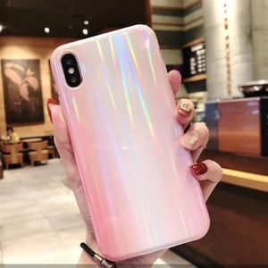 NEW iPhone 7/8 Pink Marble Laser Case